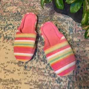 Pink Striped Slippers